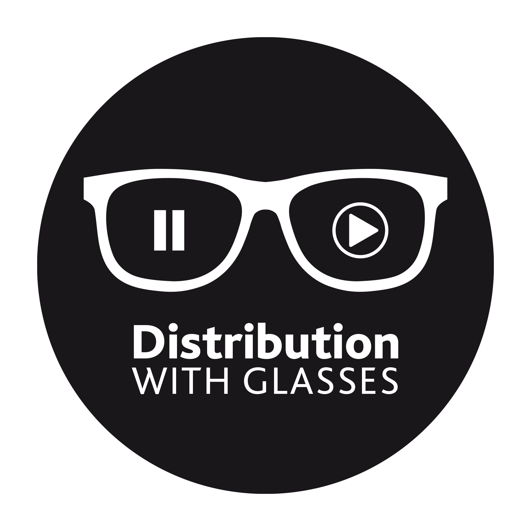 Logo de Distribution with Glasses